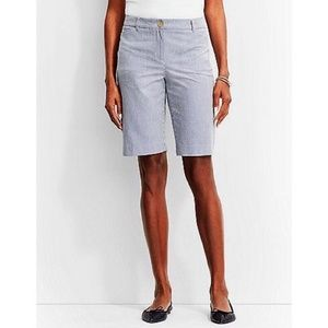 Talbots • Blue White Seersucker Bermuda Shorts